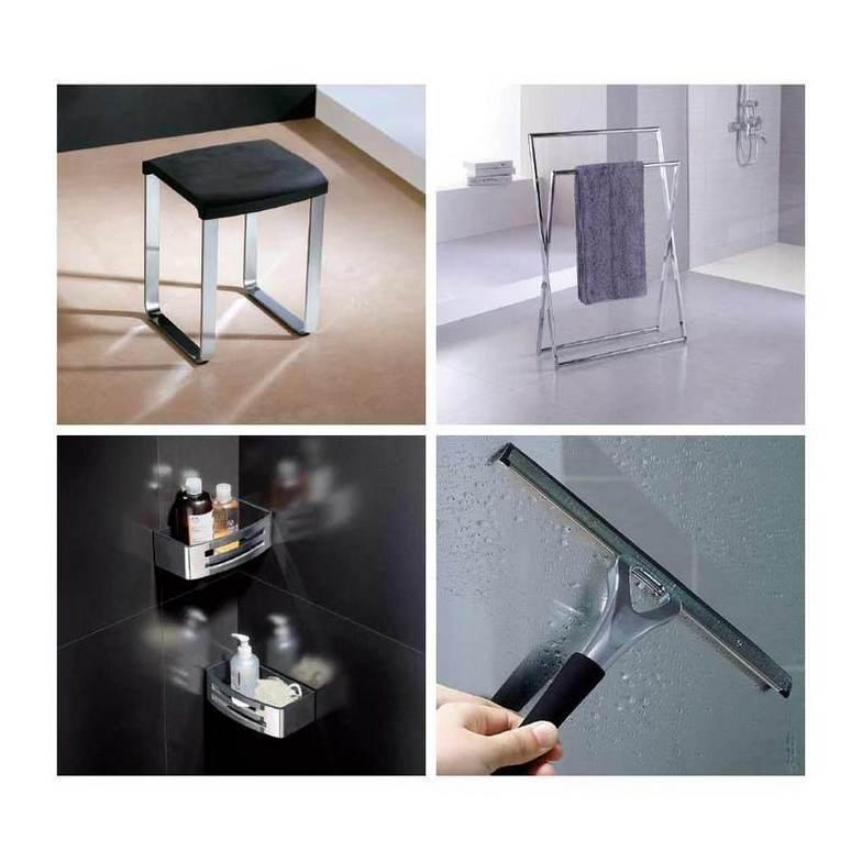 Tra gli accessori Novellini potrai trovare i complementi giusti per la tua doccia, cabina o vasca da bagno.