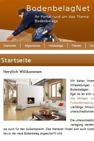 """BodenbelagNet ist eine Webseite der UPA Verlags GmbH. Bei BodenbelagNet werden Artikel rund um das Thema """"Böden"""" publiziert. Behandelt werden z.B. Parkett, Laminat, Bodenfliesen und Teppich."""