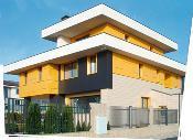 Produit: Reynobond® Architecture, Façade en aluminium composite pour résidence privée Système de fixation : système de cassettes Particularité : surface mate