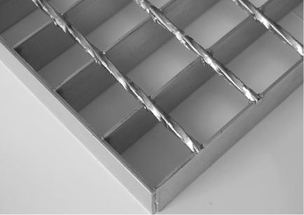 caillebotis électroforgé  BP: Lisse BT: carré torsadé