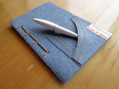 """Front Pocket Notebook – """"Made of Jeans"""""""