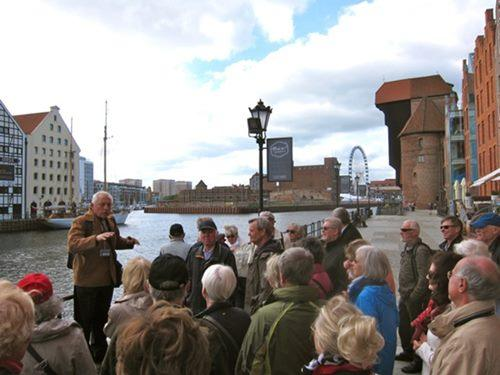 Sightseeing with the group in Gdansk city