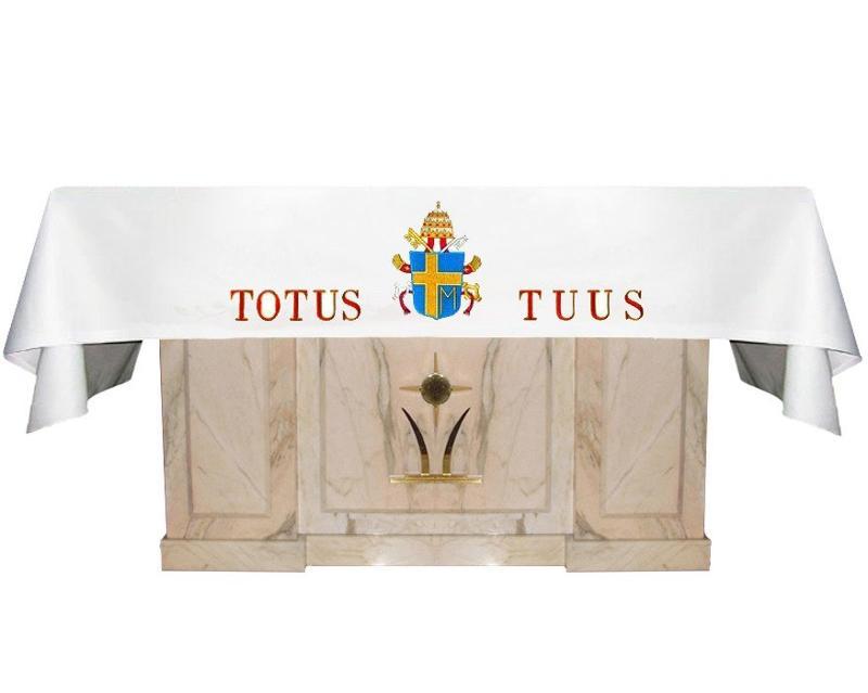"""Altar cloth """"Totus Tuus"""""""