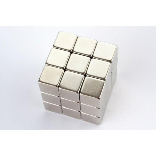 Cube magnet Neodymium, 10x10x10mm Nickel coated