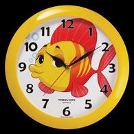 Plastic wall clock, diameter 290 mm, glass, quartz sweep movements.
