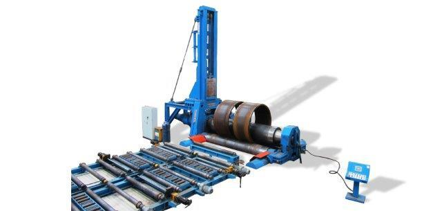 "3 rolls variable geometry plate bending machines, with capacity up to 300 mm (12"") and width up to 6 meters (240"")"