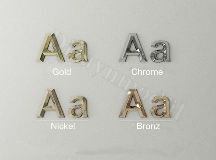 3d metal letters