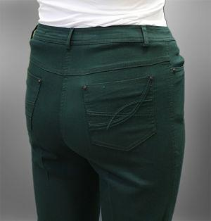 High Quality, Plus Size, Embroidered, High Waisted Canvas Pants.Available Sizes: (42-52) %80Cotton-%17Polyester-%3Elastan