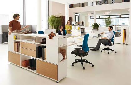 Der Büroschrank terry torry besteht aus fertigen Einzelboxen. Durch hinzufügen von Verbindungsplatten und eines Sockels entstehen individuelle Büroschränke.