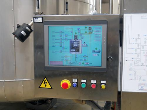 "The process is controlled by 15"" touch screen connected with net plc"