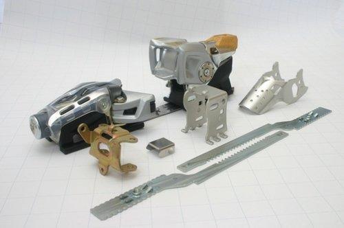 Metallteile Skibindung