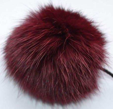 Pompon made of rabbit fur for hat decoration.
