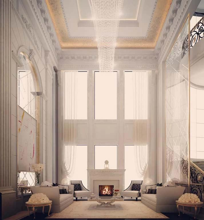 Fireplace Lounge Interior Design