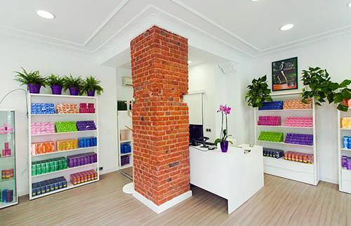 Imagen panorámica de nuestra tienda oficial Show Room en la Calle Castelló 113, en el barrio de Salamanca en Madrid.