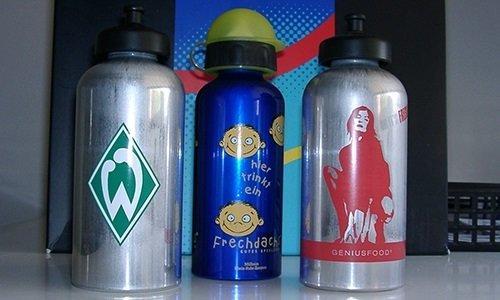 Trinkflaschen Siebdruck