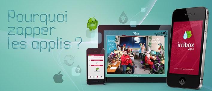Un peu d'humour sur les applications mobiles android et IOS
