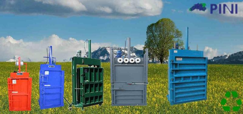Vertical presses make it possible to recover many types of materials such as cardboard and plastic, facilitating recovery and re-use in the production cycle.