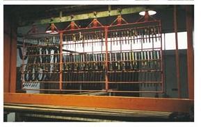 Impianto di zincatura a catena