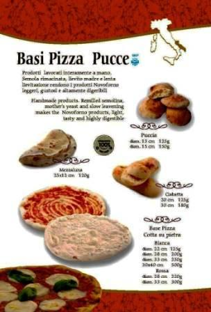 Pizza base and pucce