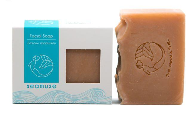 Cold process soap for the face with pink clay, Normal and combination skin. Rich in cocoa butter