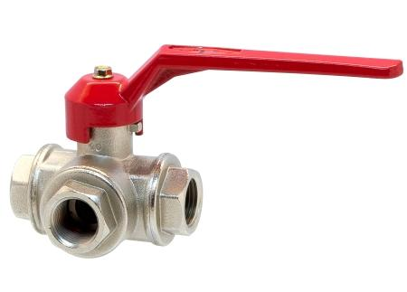 "3 way ball valves, ""T"" or ""L"" bore"