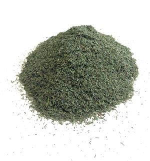 Granulation - 0,5<X<4,0mm – min. 90,0%, Moisture - Max 10%, Volatile oil content - Min 1,9%, Content of ash - Max 12.0%, Content of ash insoluble in 10% HCL - Max 3.5%