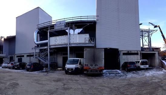 impianto trattamento aria per industria alimentare