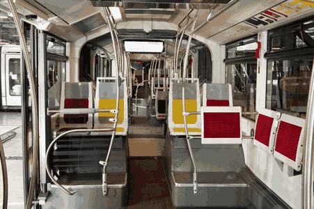 autre exemple de conception et réalisation de sièges de bus par Compin: modèle SG09.