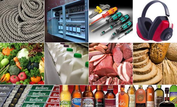 Nos domaines d'intervention : Consommation courante  Fournitures et équipements professionnels Industrie et nautisme
