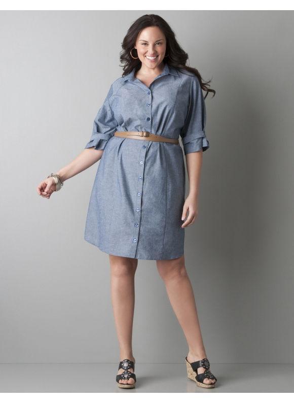 Big size denim dress