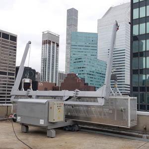 Máquina para el mantenimiento de fachadas / Facade Access Equipment / Solución de acceso permanente a fachadas / Permanent facade access solution.