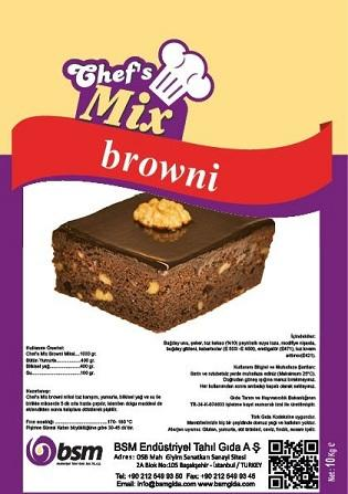 Chief's Mix; Brownie Mix is an easy to use mixture made to achieve brownies with perfect flavor and appearance, which also keeps its freshness for a long time.