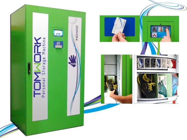 La Personal Storage Machine che fa diminuire il consumo di utensili e DPI del 30% e risparmiare il 70% del tempo di distribuzione di questi. Magazzino automatico che funzione con il badge personale.