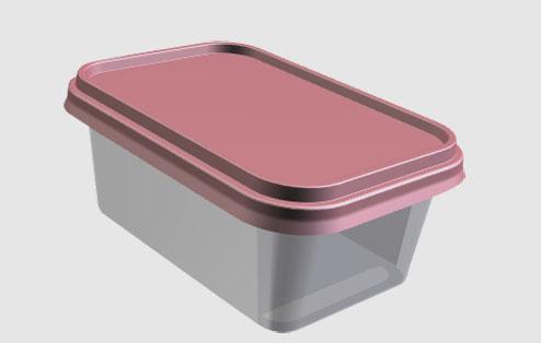 Boite plastique injecté pour plats préparés, beurre, pâte à tartiner, sauces...