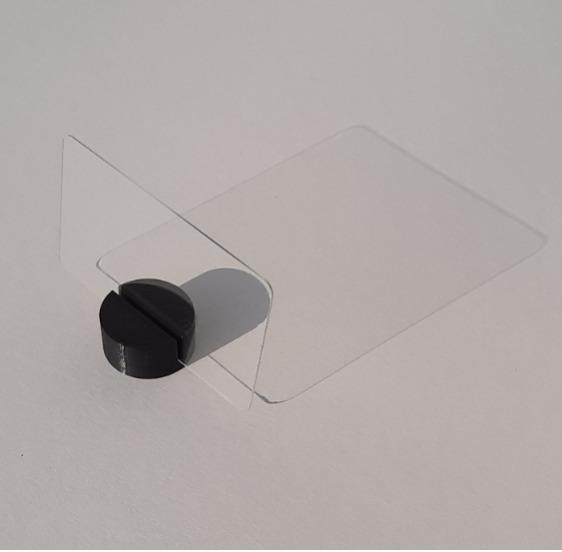 Business card base glass