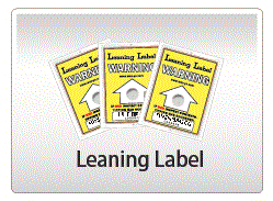Leaning Label is used to prevent Tilt during transit.