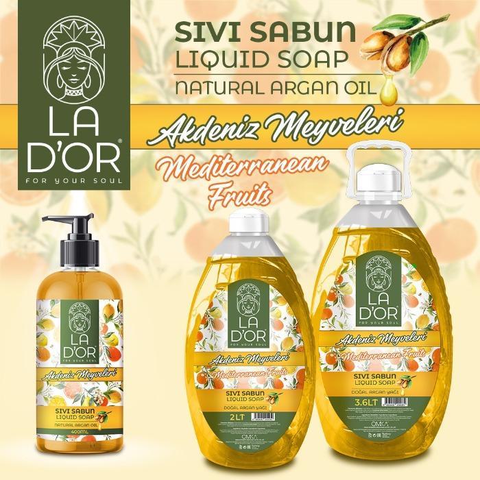 LA D'OR liquid soap - mediterranean  fruits