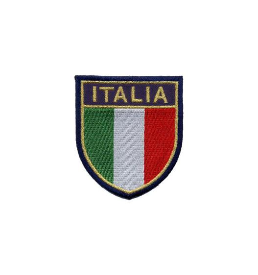 Embroidered patch Italy crest with metallic gold thread. Heat seal backing for iron ore and laser cut to have a better effect. Embroidered badge production on customer logo.