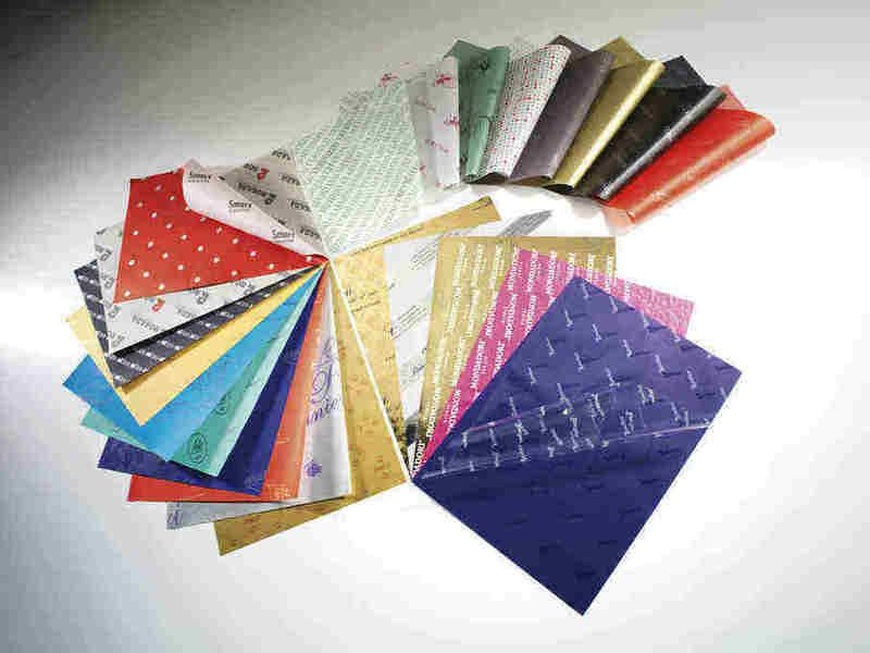 Customized Tissue Paper - Carta Velina Personalizzata - Papier De Soie Personnalisé
