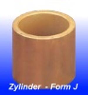 Sinterbronze Zylinderlager, Form J (DIN 1850/3 - ISO 2795)