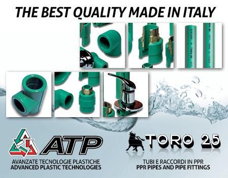 """Il Sistema TORO 25 è frutto di un know-how ingegneristico tutto italiano. La produzione di tutti gli articoli è al 100% """"Made in Italy"""", sinonimo di di qualità, tecnologia e passione"""