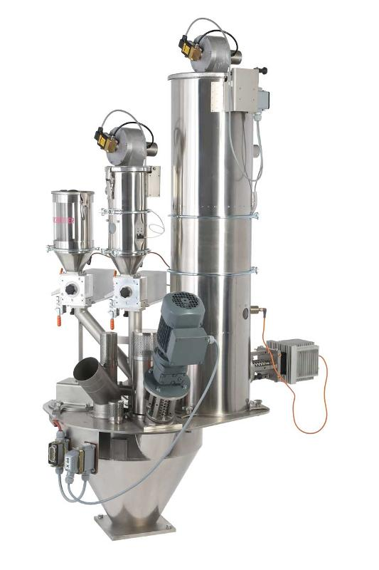 Hot dosing device with micro-dosing capability • For PET preforms • Up to 80% grinded material* • Holcobatch < 0.01% • Masterbatch • Virgin & grinded material up to 180 °C in a single dosing device