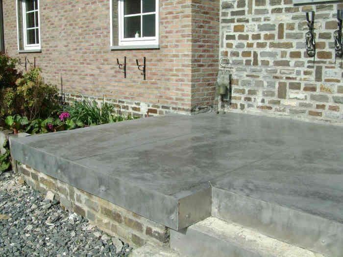Dalles en béton pour terrasse