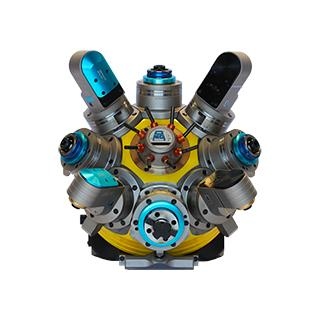 HT series revolving turrets are one of the last product in the O.M.G. production range. Inspired by the need to increase the flexibility of machine tools, they are able to perform drilling, thread-cut