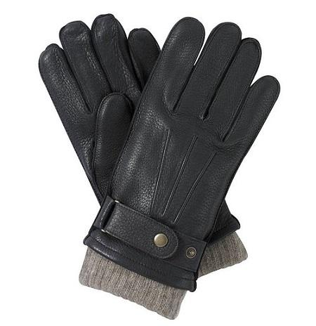 Men's winter gloves black deer