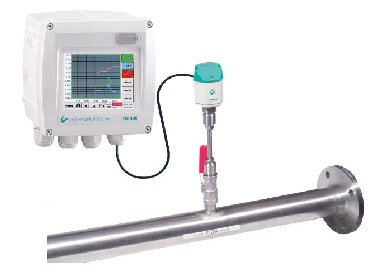 consisting of Chart Recorder DS 400 and flow sensor VA 400