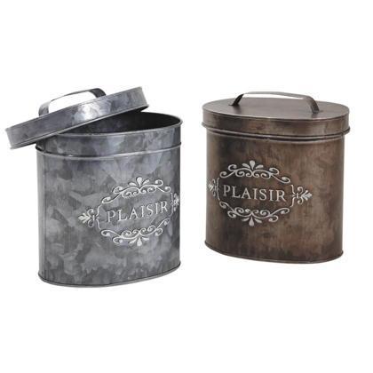 Boîte ovale en zinc laqué