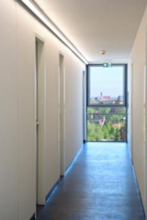 Flurbeleuchtungen im Wohnhochhaus