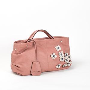 Beautiful woman leather bag, mousse, entirely made in Italy.