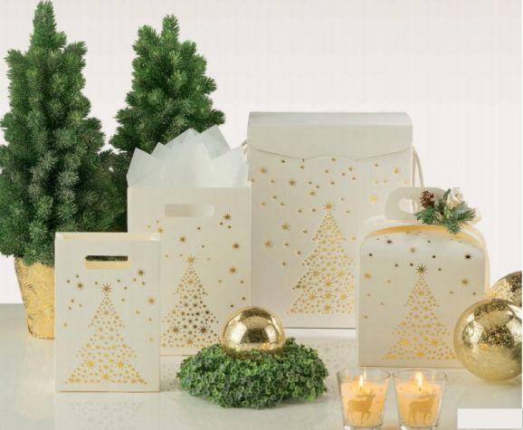 Weihnachtsverpackung um Ihre Geschenke schöner zu verschenken